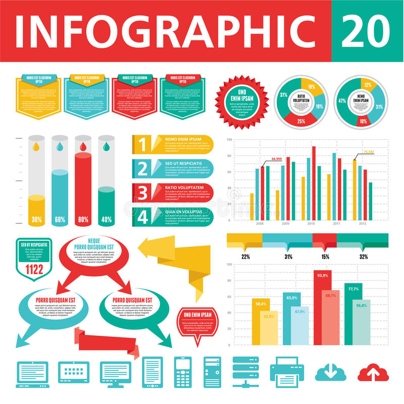 Elementos 20 de Infographics libre illustration