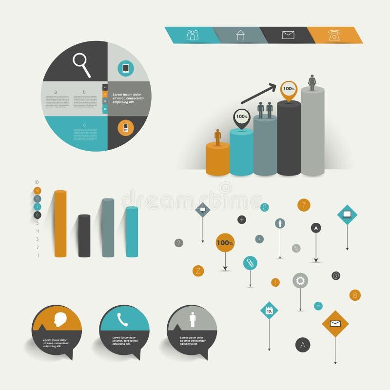 Elementos de Infographics. ilustração royalty free