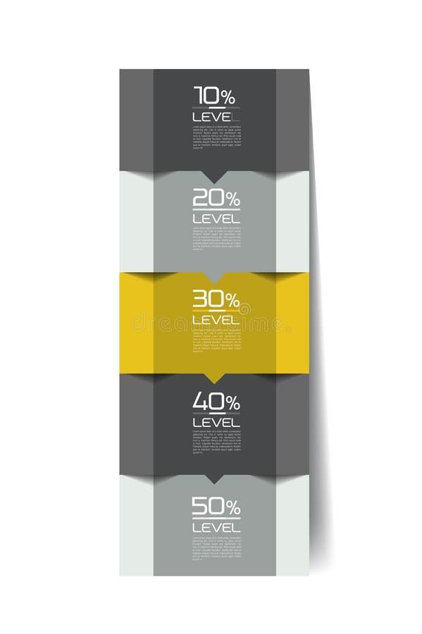 Elementos de Infographics Aba quadrada, fluxograma, diagrama de caixa ilustração do vetor