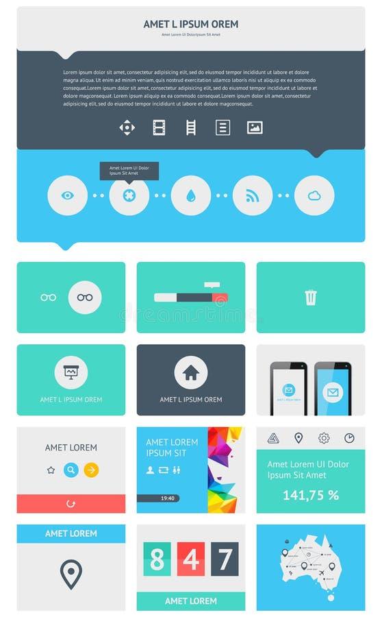 Elementos De Infographics Com Botões E Menus Imagem de Stock