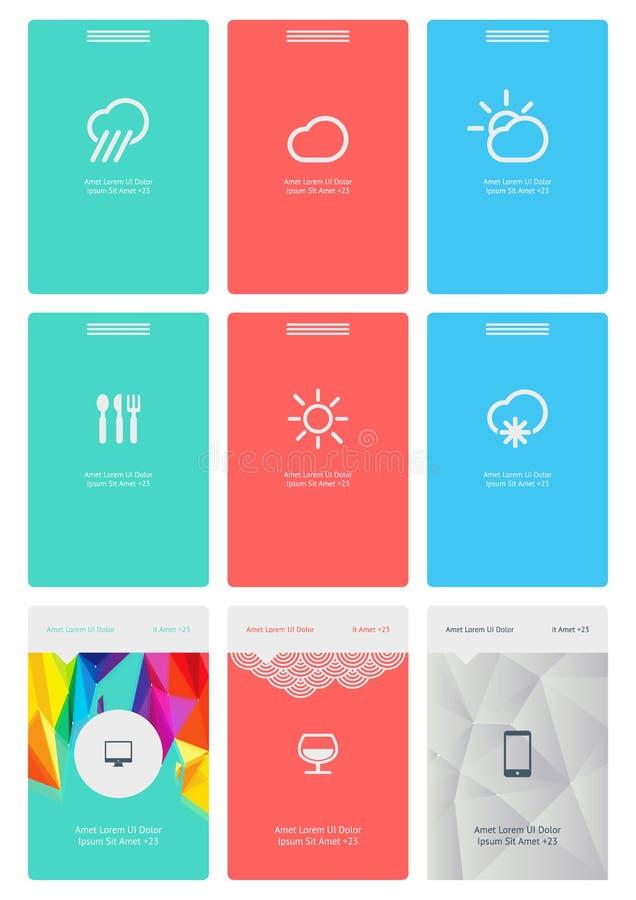Elementos De Infographics Com Botões E Menus Fotografia de Stock Royalty Free