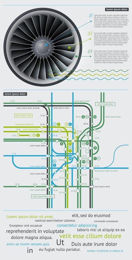 Elementos de Infographics com teclas ilustração royalty free