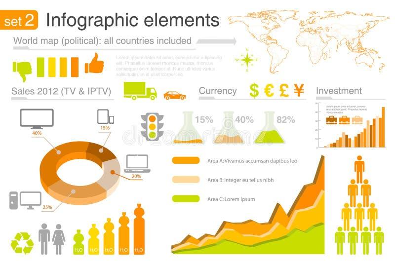 Elementos de Infographics con los iconos ilustración del vector