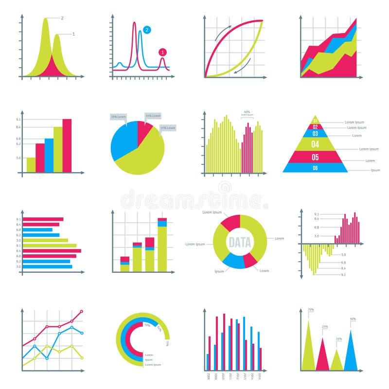 Elementos de Infographics en negocio plano moderno libre illustration