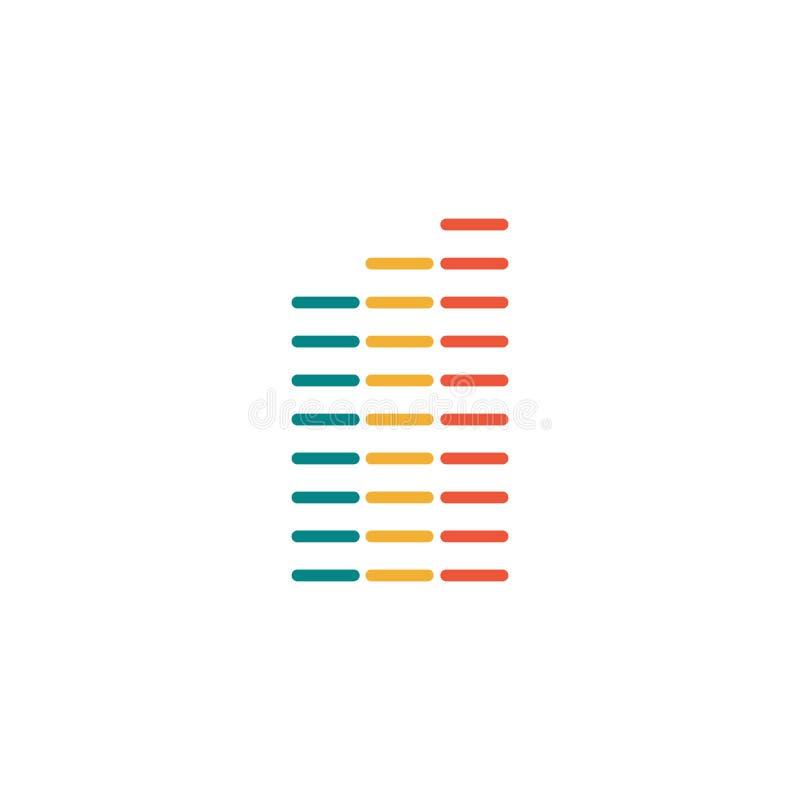 Elementos de Infographics de la carta de barra en diversos colores Ilustración del vector aislada en el fondo blanco stock de ilustración