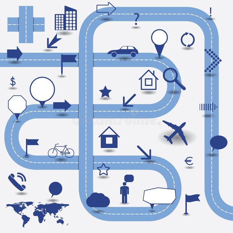Elementos de Infographics ilustración del vector