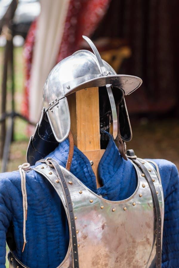 Elementos de la armadura imagenes de archivo