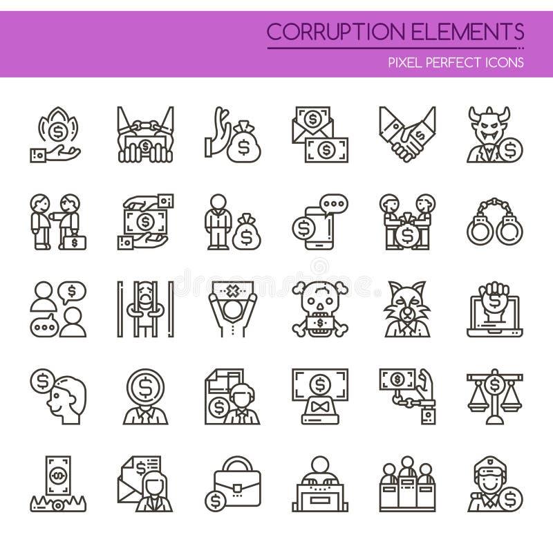 Elementos de la corrupción stock de ilustración