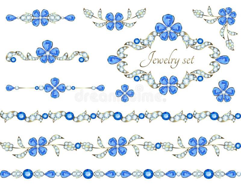 Elementos de la decoración de la joyería libre illustration