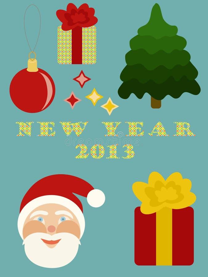 Elementos de la desecho-reservación del Año Nuevo. libre illustration