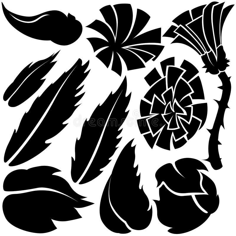 Elementos de la flor ilustración del vector