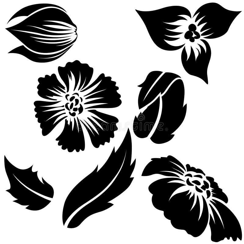 Elementos A de la flor stock de ilustración