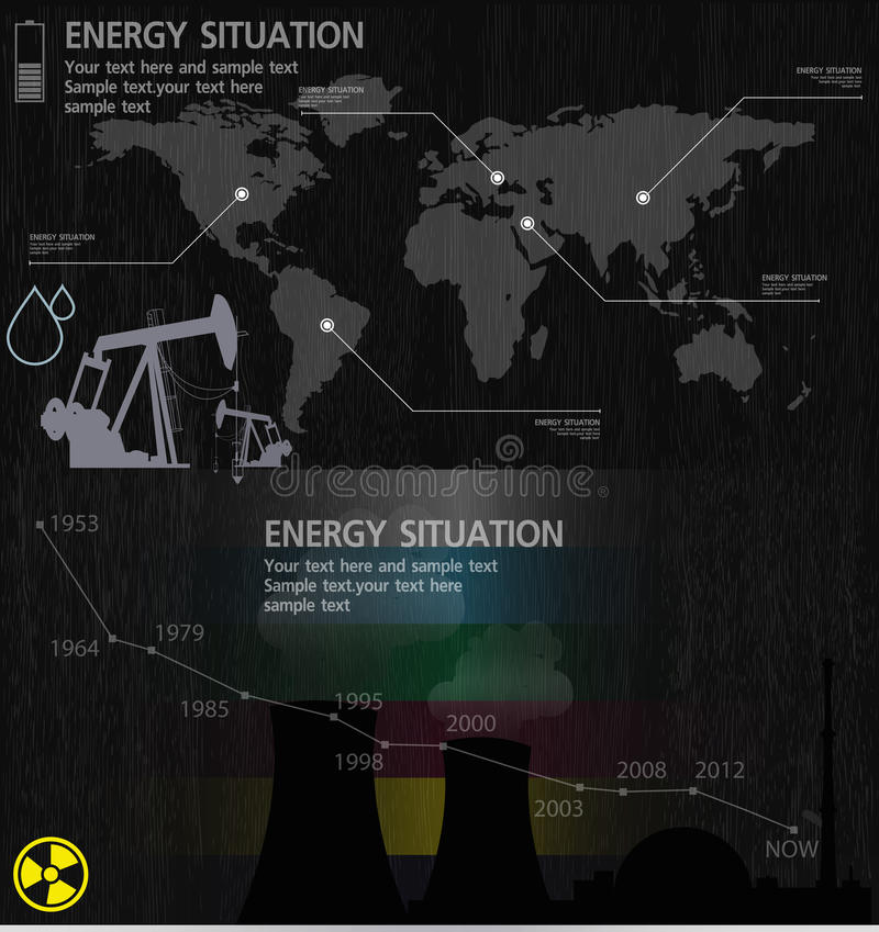 Elementos de la industria energética libre illustration