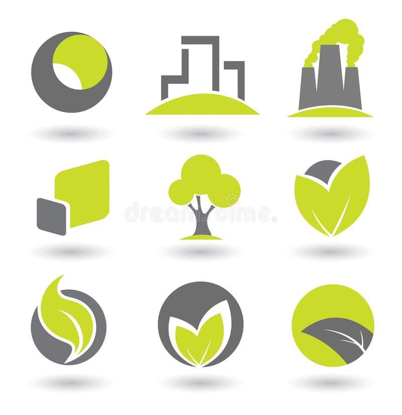 Elementos de la insignia ilustración del vector