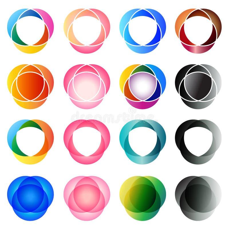 Elementos de la insignia libre illustration