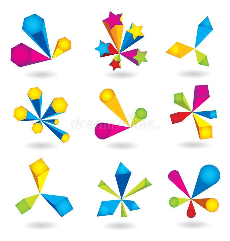 elementos de la insignia 3d libre illustration
