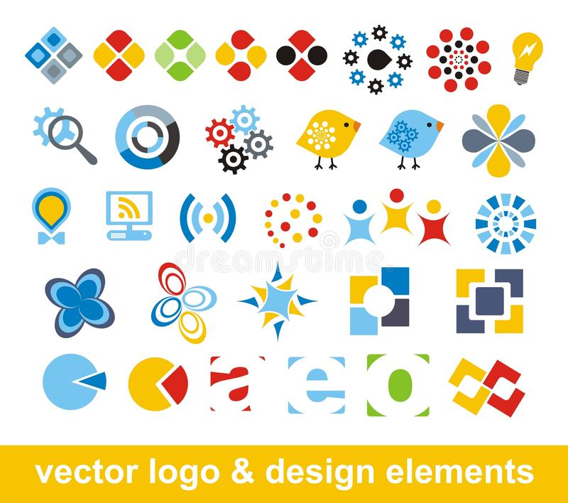 Elementos de la insignia y del diseño del vector libre illustration