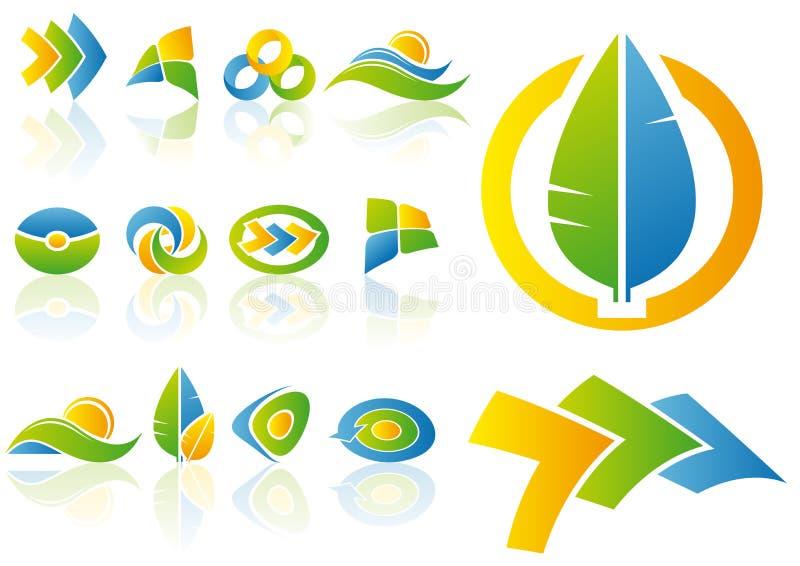 Elementos de la insignia y del diseño del vector stock de ilustración