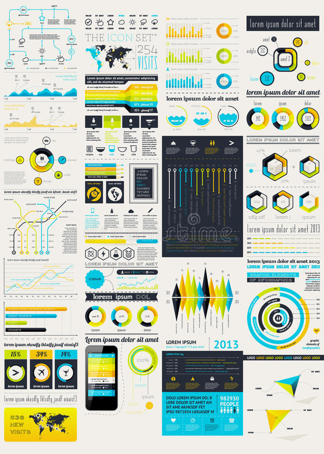 Elementos De La Interfaz De Usuario Para El Diseño Web Ilustración ...