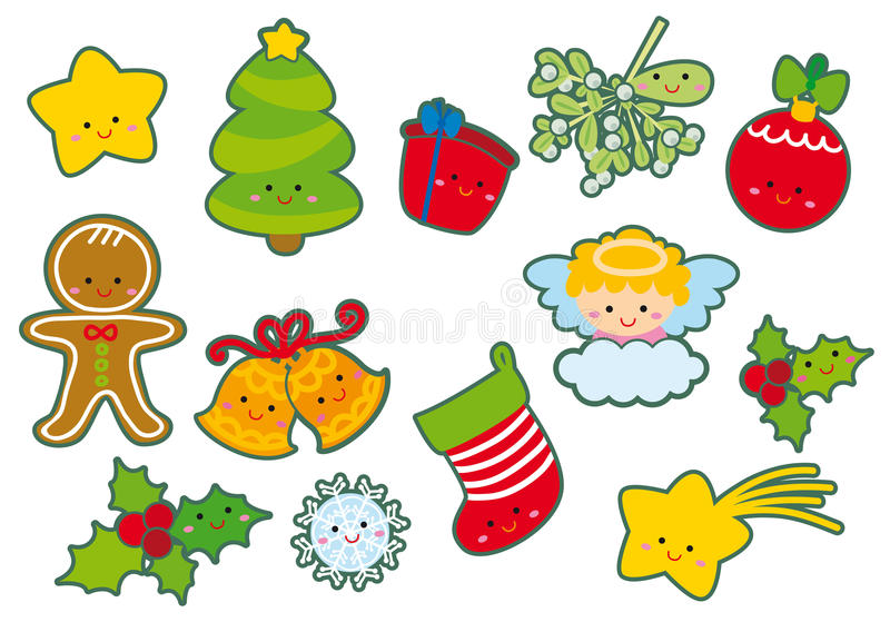 Elementos de la Navidad stock de ilustración