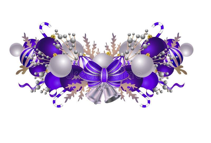 Elementos de la Navidad para sus diseños ilustración del vector