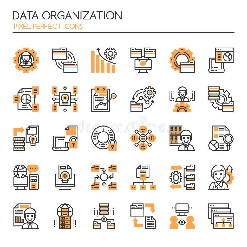 Elementos de la organización de datos ilustración del vector