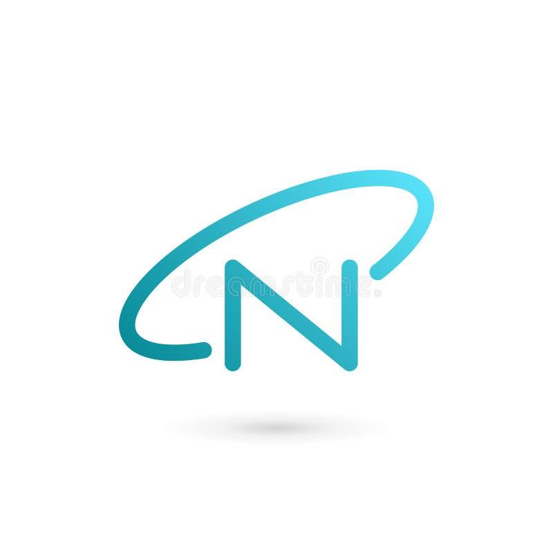 Elementos de la plantilla del diseño del icono del logotipo de la órbita de la letra N libre illustration