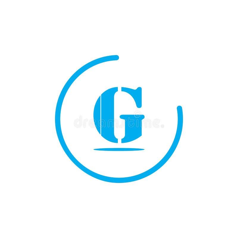 elementos de la plantilla del diseño del icono del logotipo de G de la letra para su identidad del uso o de la compañía libre illustration