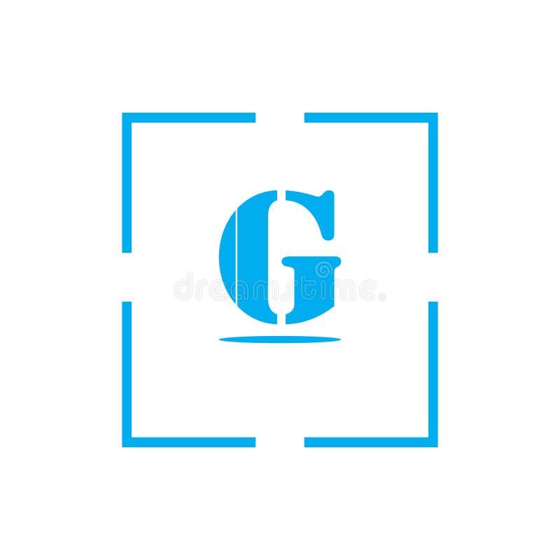 elementos de la plantilla del diseño del icono del logotipo de G de la letra para su identidad del uso o de la compañía ilustración del vector