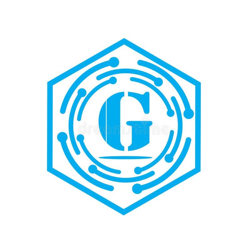 elementos de la plantilla del diseño del icono del logotipo de G de la letra para su identidad del uso o de la compañía stock de ilustración