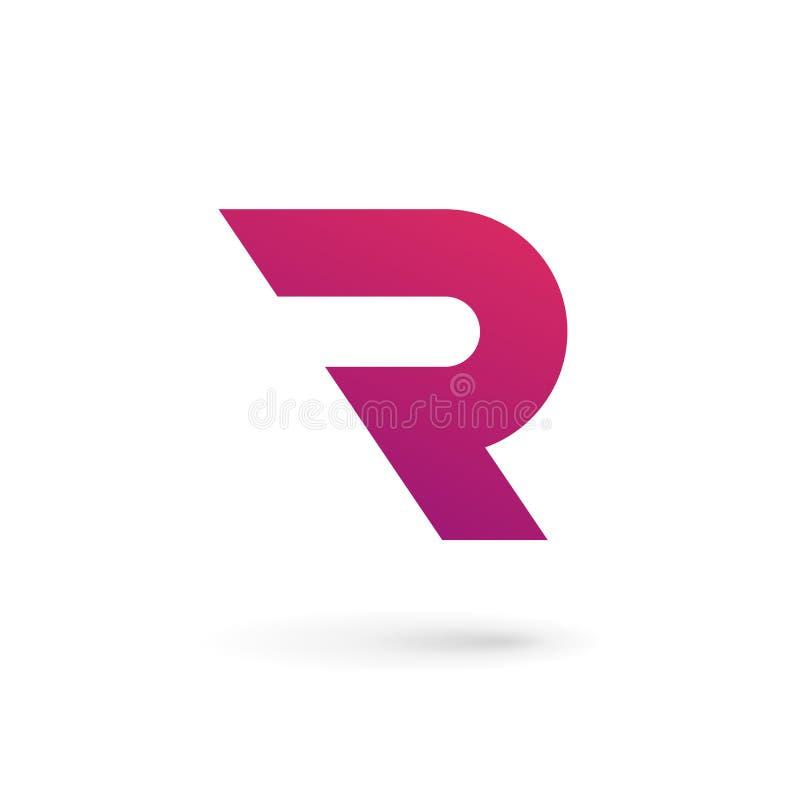 Elementos de la plantilla del diseño del icono del logotipo de la letra R ilustración del vector
