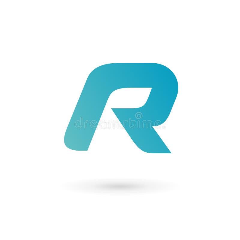 Elementos de la plantilla del diseño del icono del logotipo de la letra R libre illustration