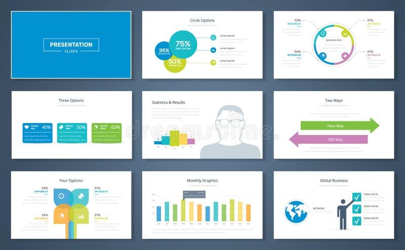 Elementos de la presentación de Infographic y folletos de la plantilla del vector libre illustration