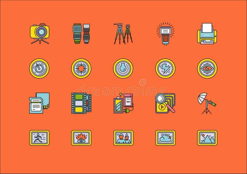 Elementos de los artículos del equipo de proceso de la foto libre illustration