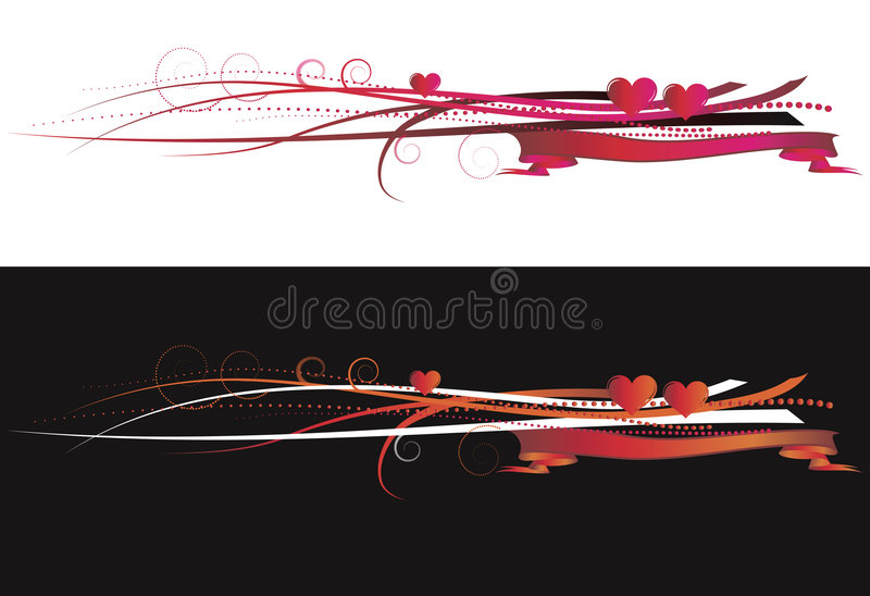 Elementos de los fondos de la tarjeta del día de San Valentín ilustración del vector