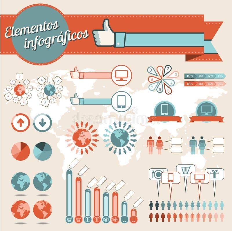 Elementos de los gráficos del Info fotos de archivo