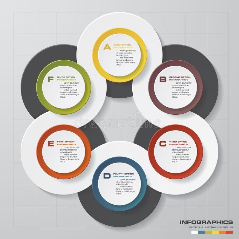 Elementos de los infographis de los pasos del extracto 6 stock de ilustración