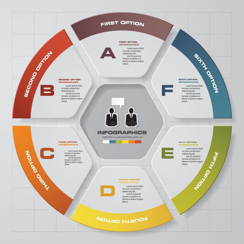 Elementos de los infographis de los pasos del extracto 6 Ilustración del vector ilustración del vector