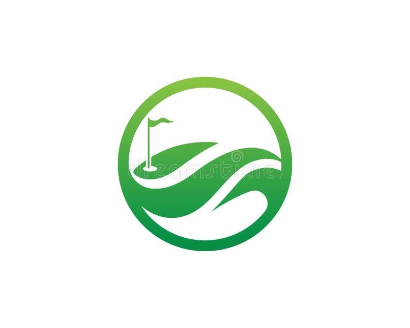 Elementos de los s?mbolos de los iconos del club de golf e im?genes del vector del logotipo stock de ilustración