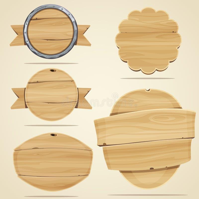Elementos de madeira imagem de stock royalty free