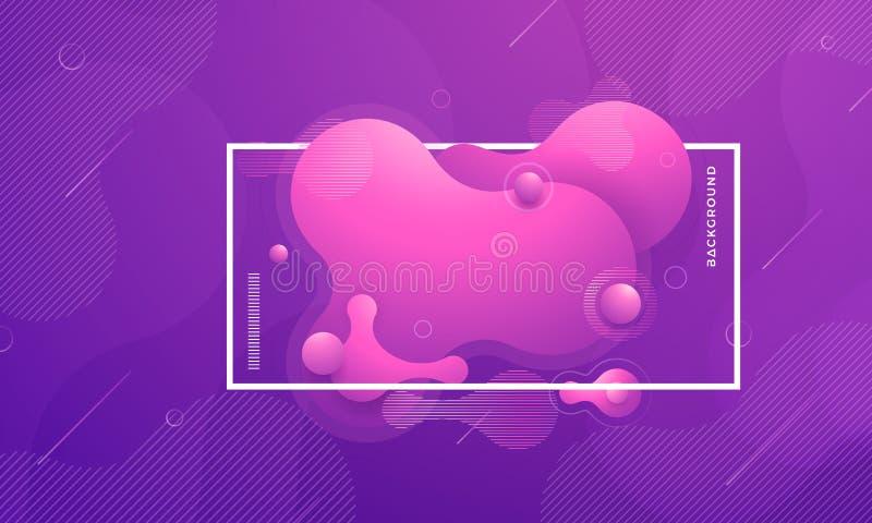 Elementos de moda del diseño del gradiente flúido, hidráulico Fondo líquido púrpura del extracto libre illustration