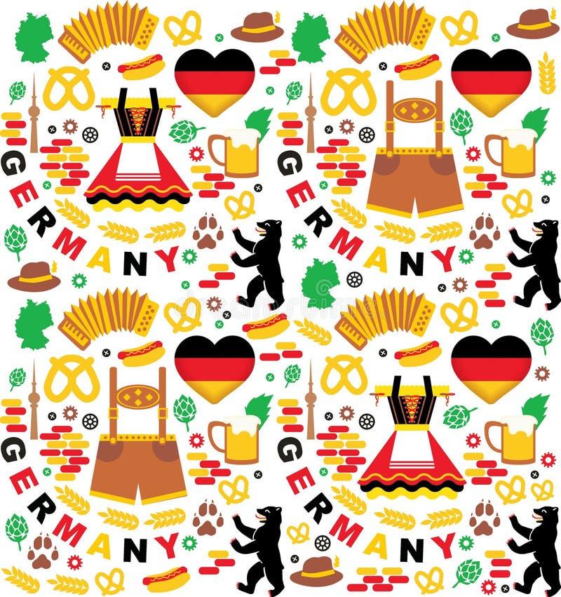 Elementos de Oktoberfest Alemania libre illustration