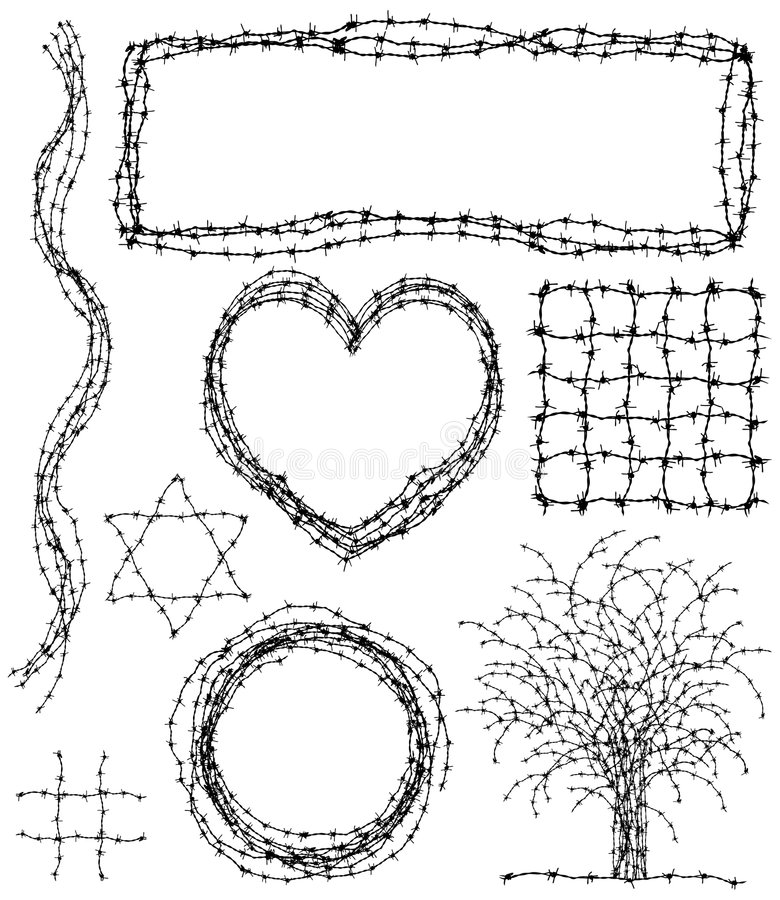 Elementos de púas ilustración del vector