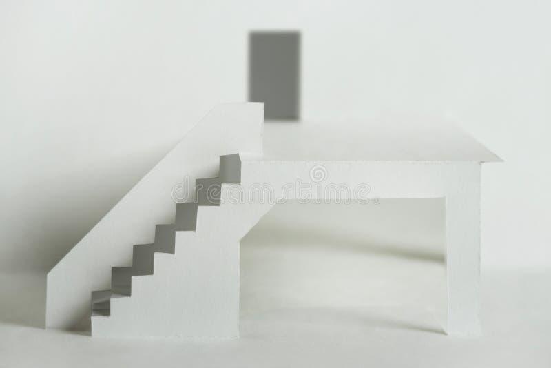 Elementos de papel del recorte del edificio fotografía de archivo libre de regalías
