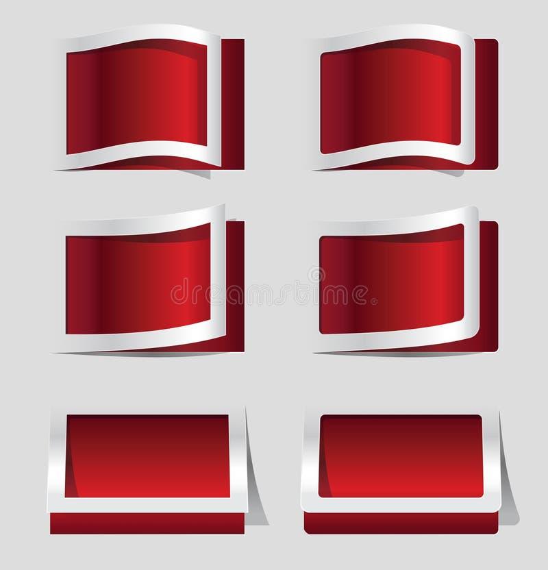 Elementos de papel do projeto ilustração stock