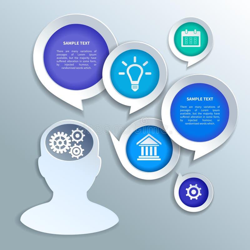Elementos de papel do projeto do infographics do negócio ilustração stock