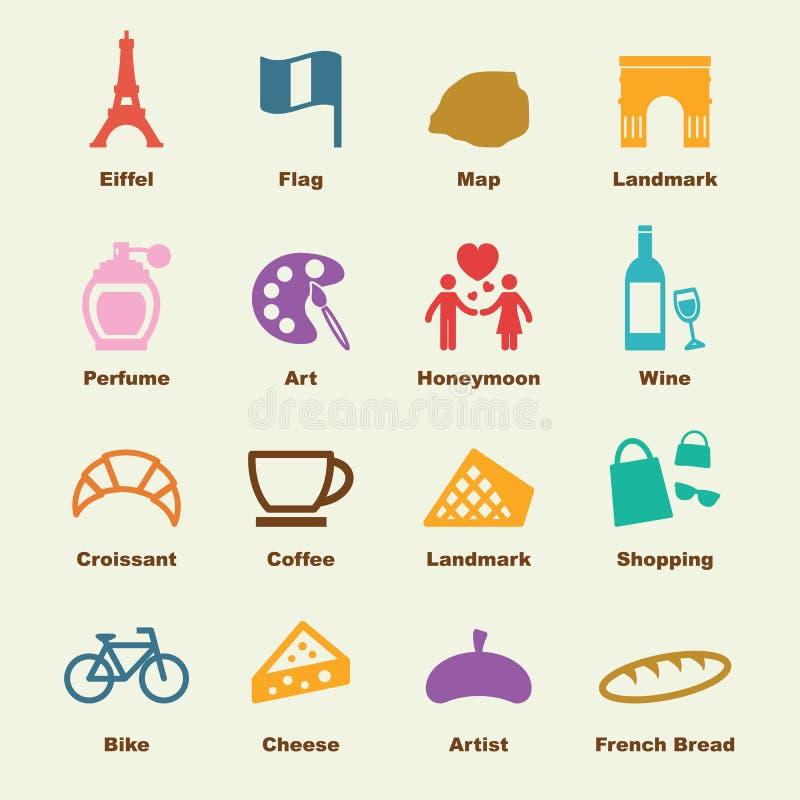 Elementos de Paris ilustração stock