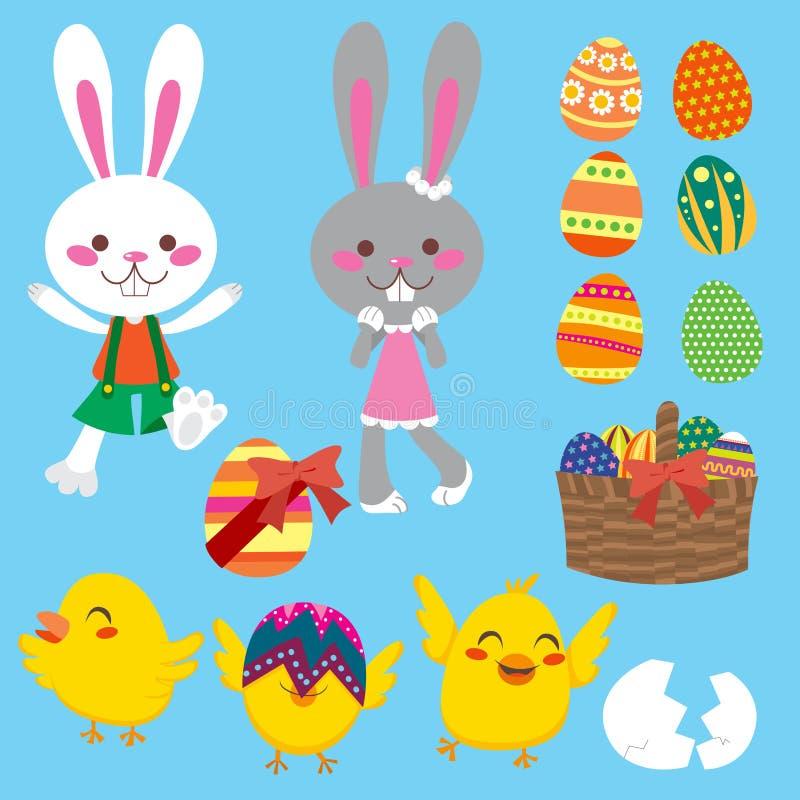 Elementos de Pascua ilustración del vector