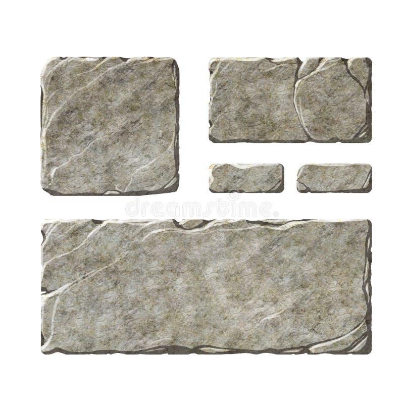 Elementos de pedra da relação ilustração do vetor