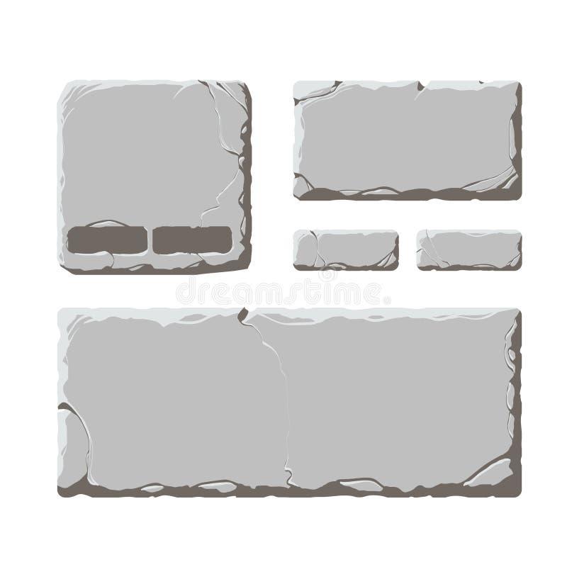 Elementos de piedra del vector libre illustration